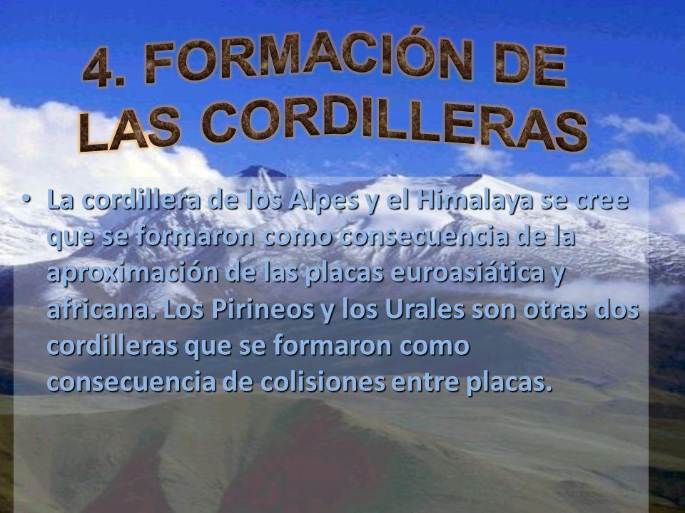 4. FORMACIÓN DE LAS CORDILLERAS