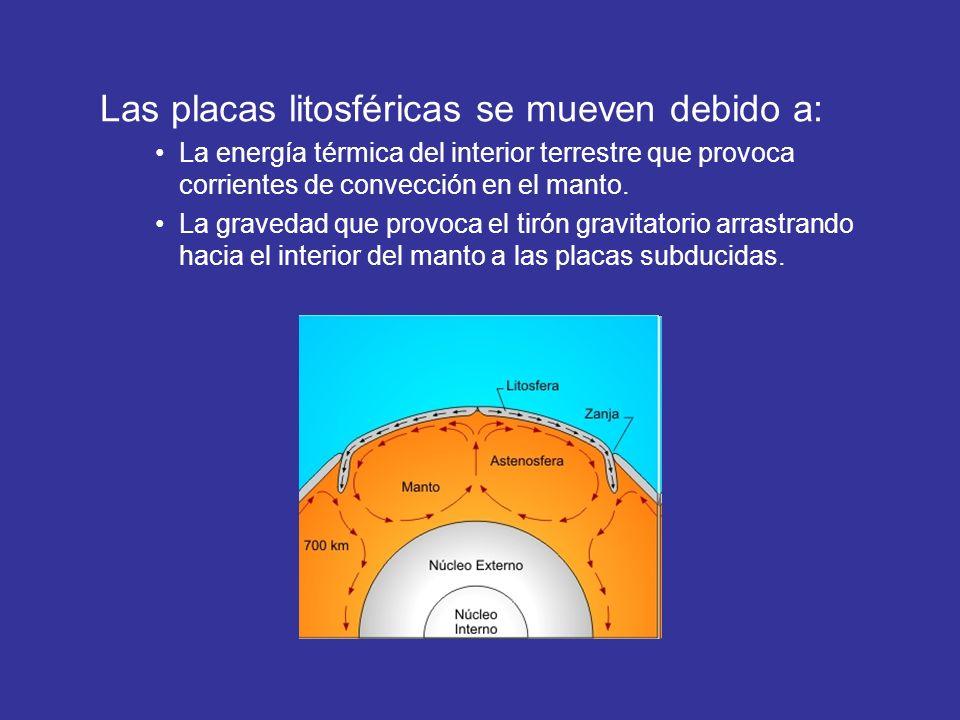 Las placas litosféricas se mueven debido a: