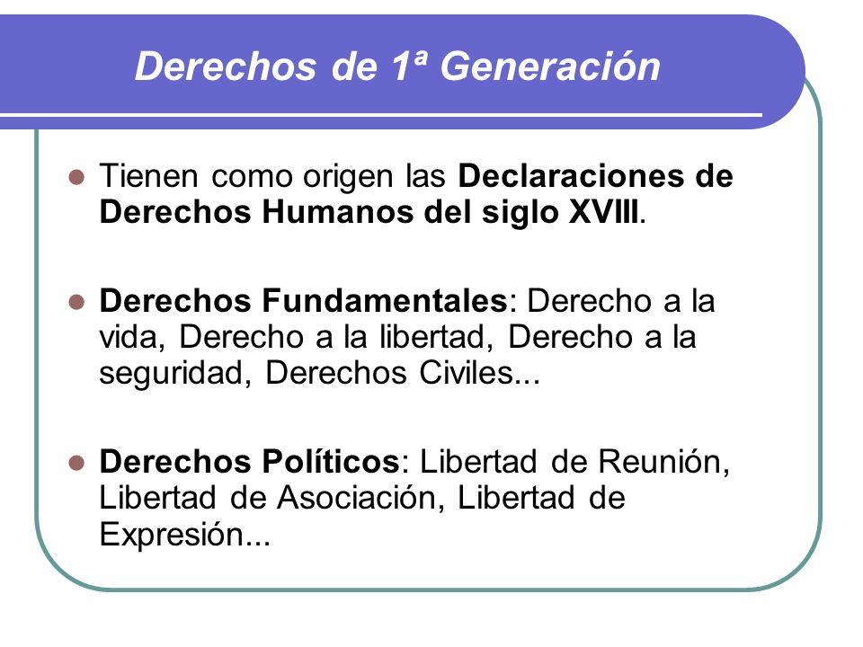 Derechos de 1ª Generación
