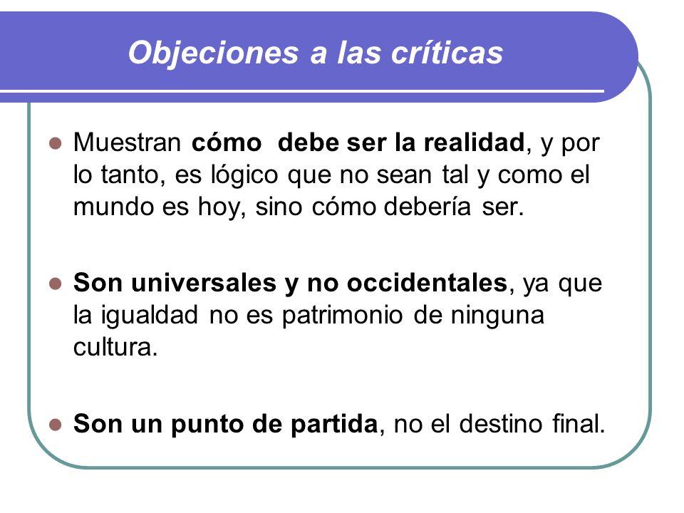 Objeciones a las críticas