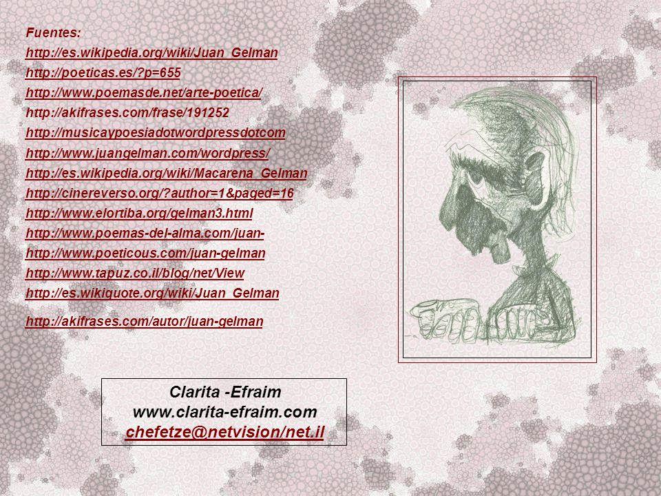 Clarita -Efraim www.clarita-efraim.com chefetze@netvision/net.il