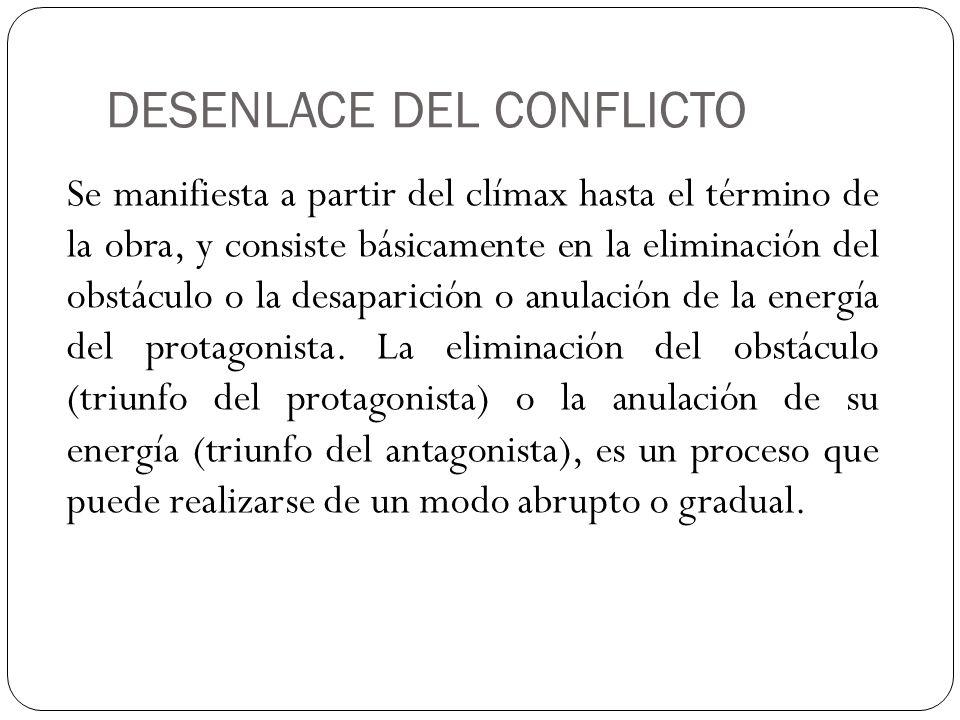 DESENLACE DEL CONFLICTO