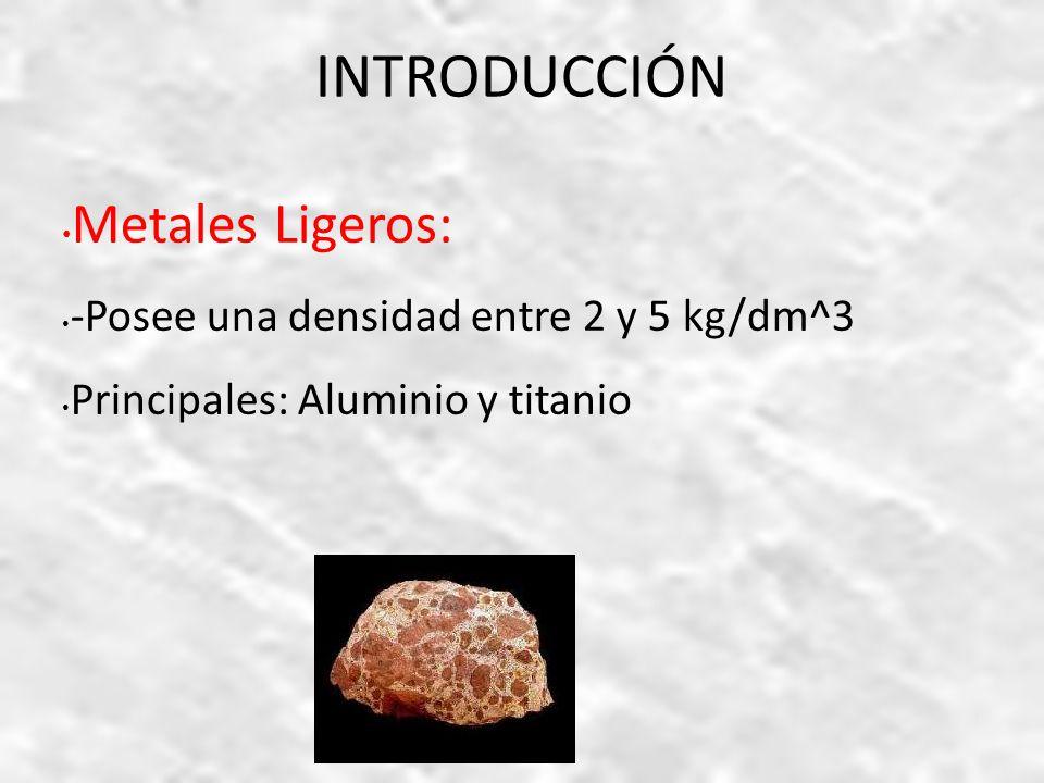 Metales no ferrosos ii ppt video online descargar introduccin metales ligeros posee una densidad entre 2 y 5 kgdm urtaz Gallery