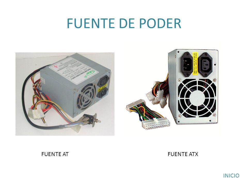 FUENTE DE PODER FUENTE AT FUENTE ATX INICIO