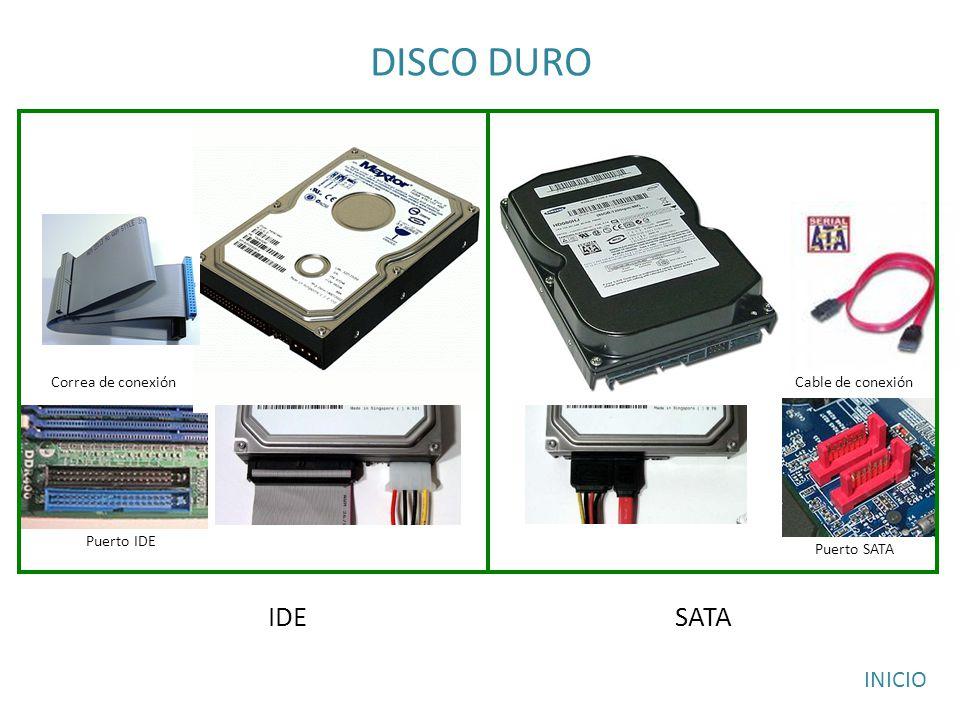 DISCO DURO IDE SATA INICIO Correa de conexión Cable de conexión