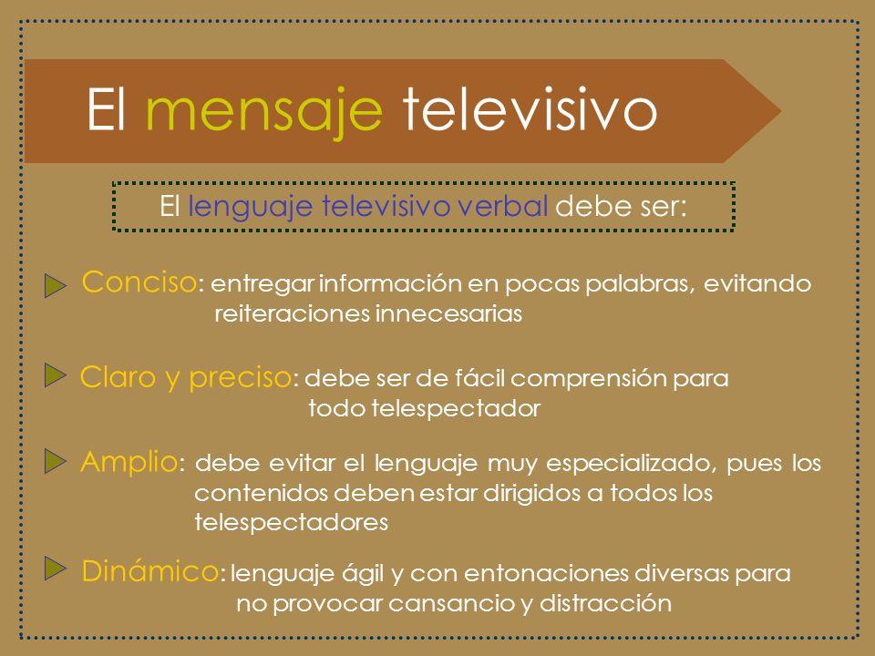 El lenguaje televisivo verbal debe ser: