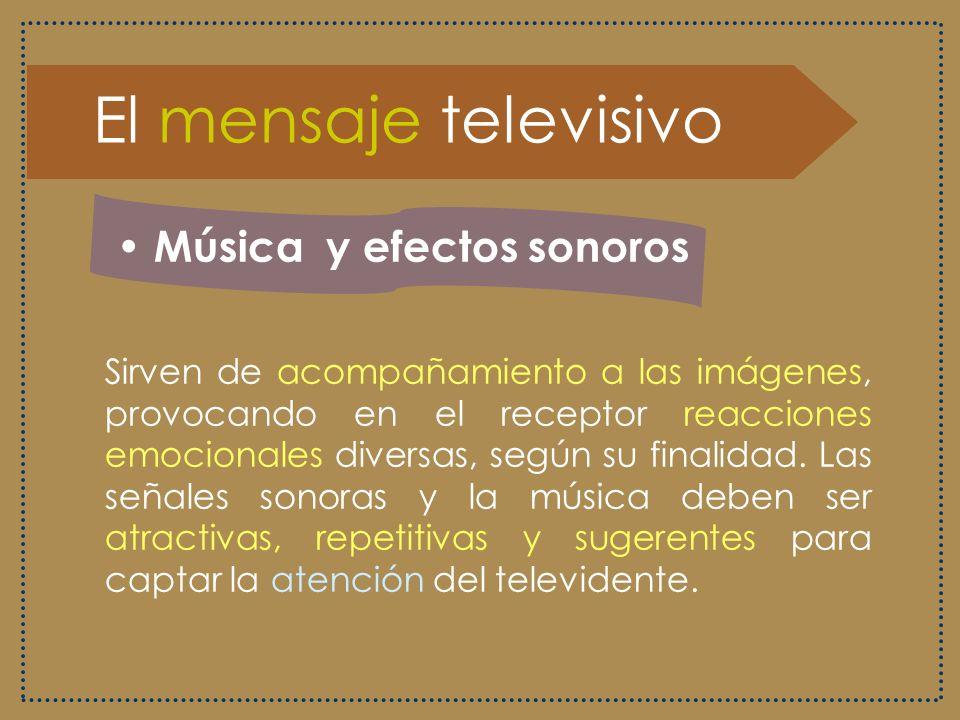El mensaje televisivo Música y efectos sonoros