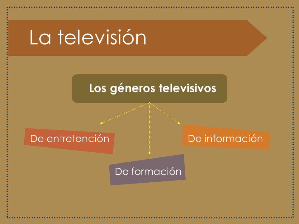 La televisión Los géneros televisivos De entretención De información