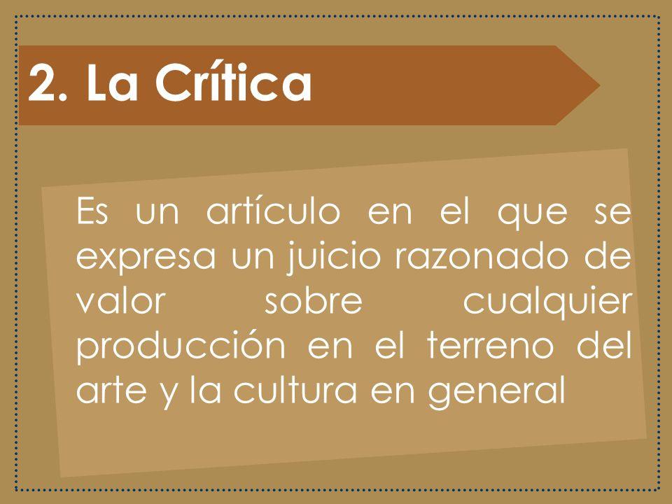 2. La Crítica