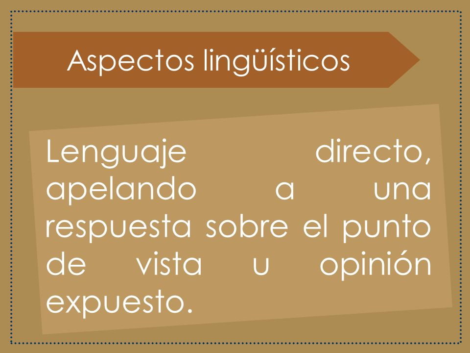 Aspectos lingüísticos