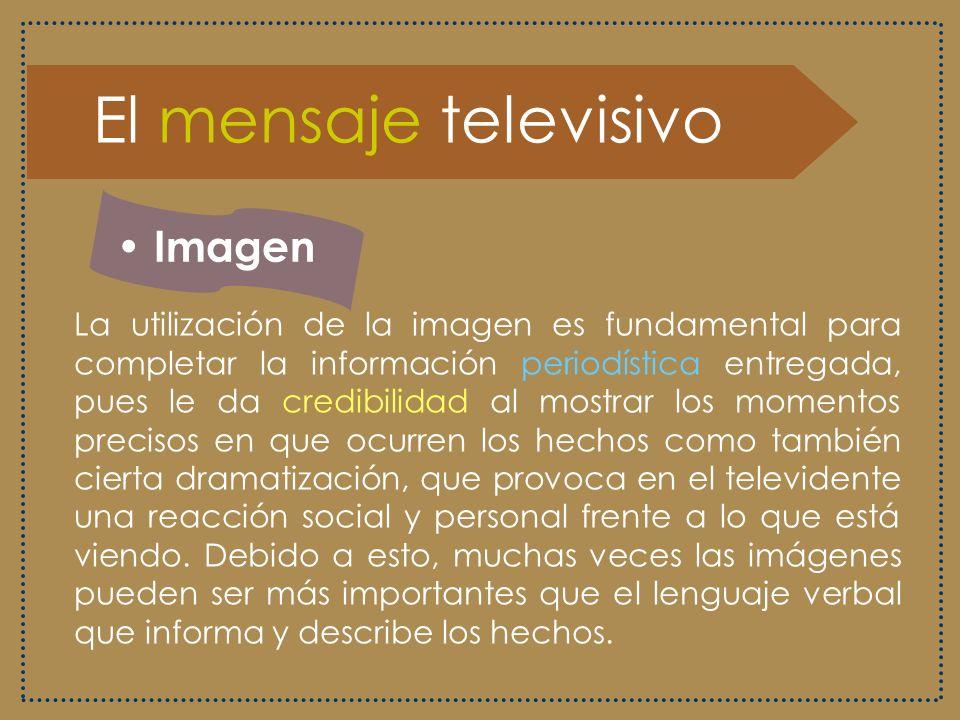 El mensaje televisivo Imagen