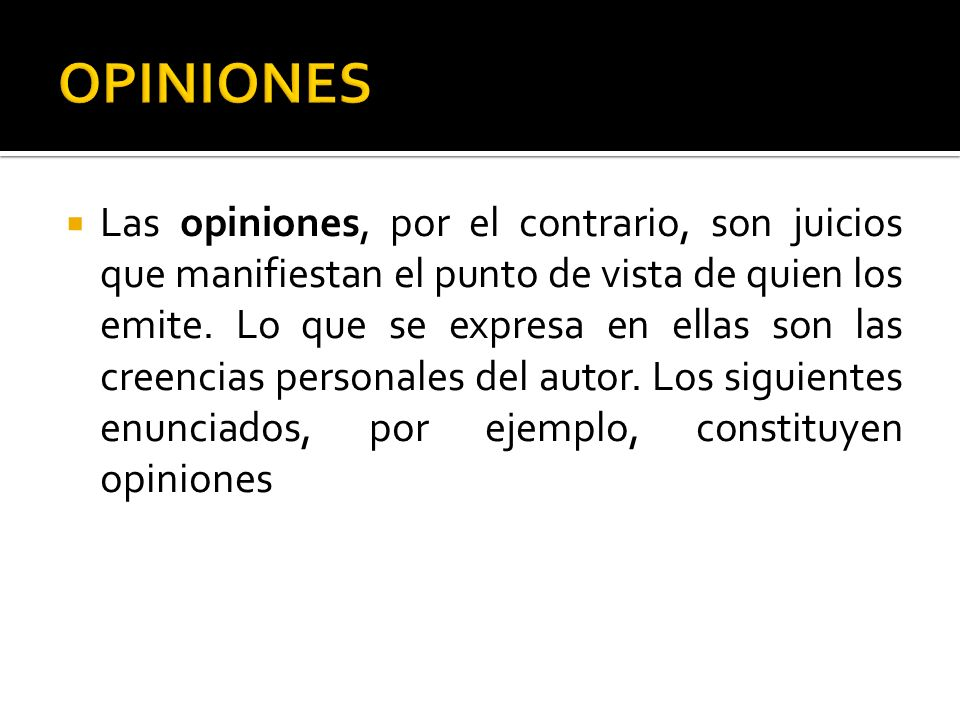 OPINIONES