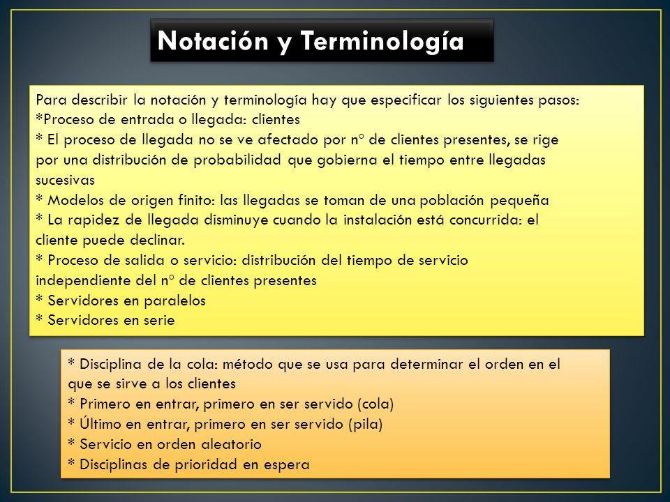 Notación y Terminología