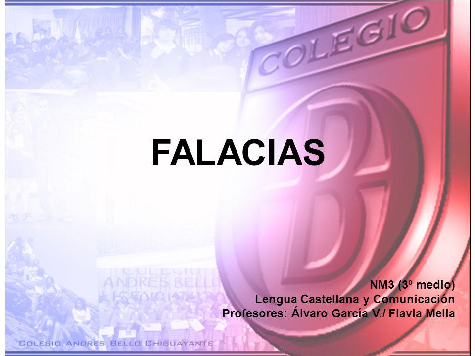 FALACIAS NM3 (3º medio) Lengua Castellana y Comunicación
