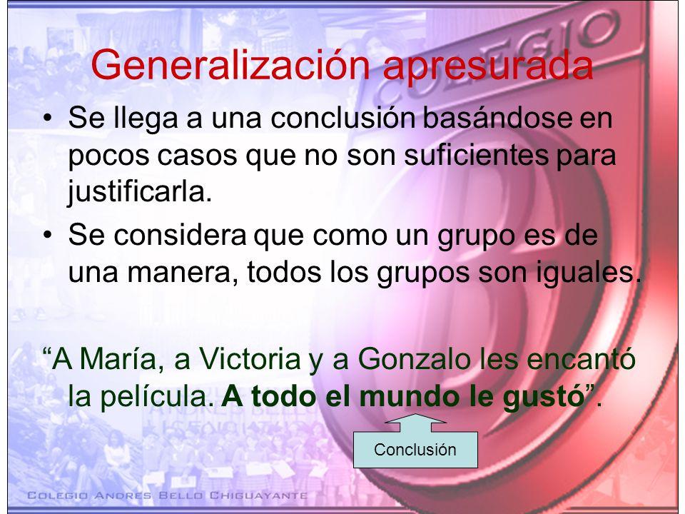 Generalización apresurada