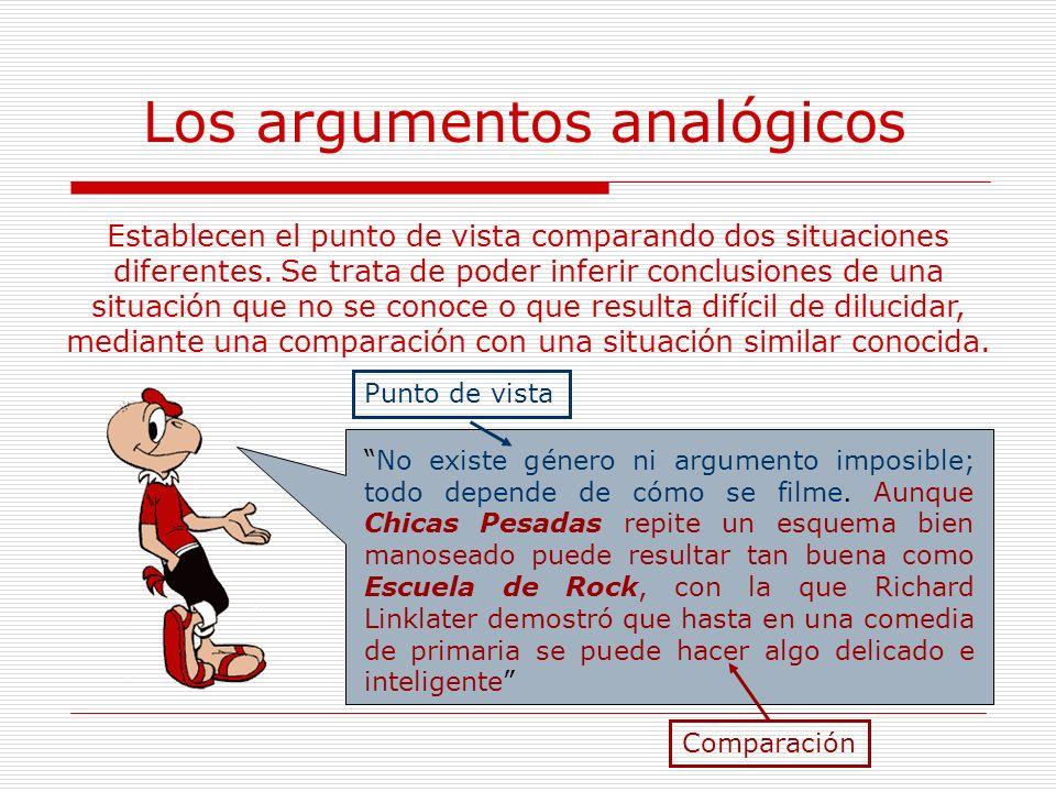 Los argumentos analógicos