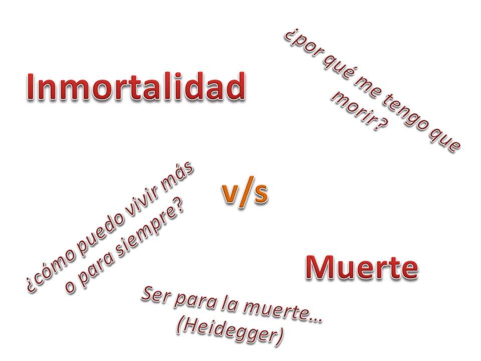 Inmortalidad v/s Muerte ¿por qué me tengo que morir