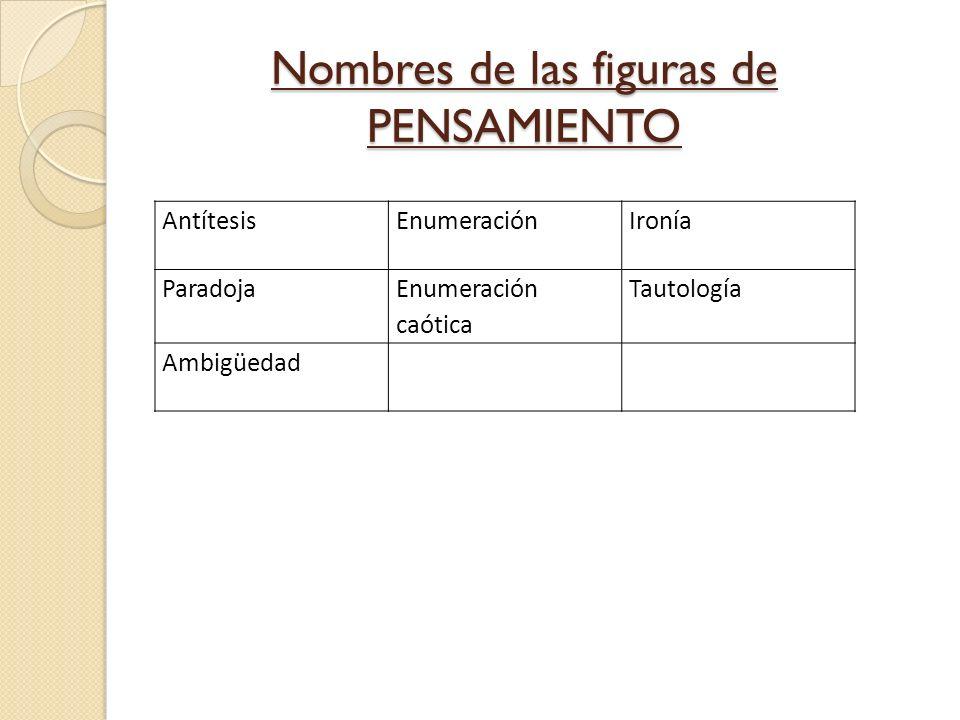 Nombres de las figuras de PENSAMIENTO