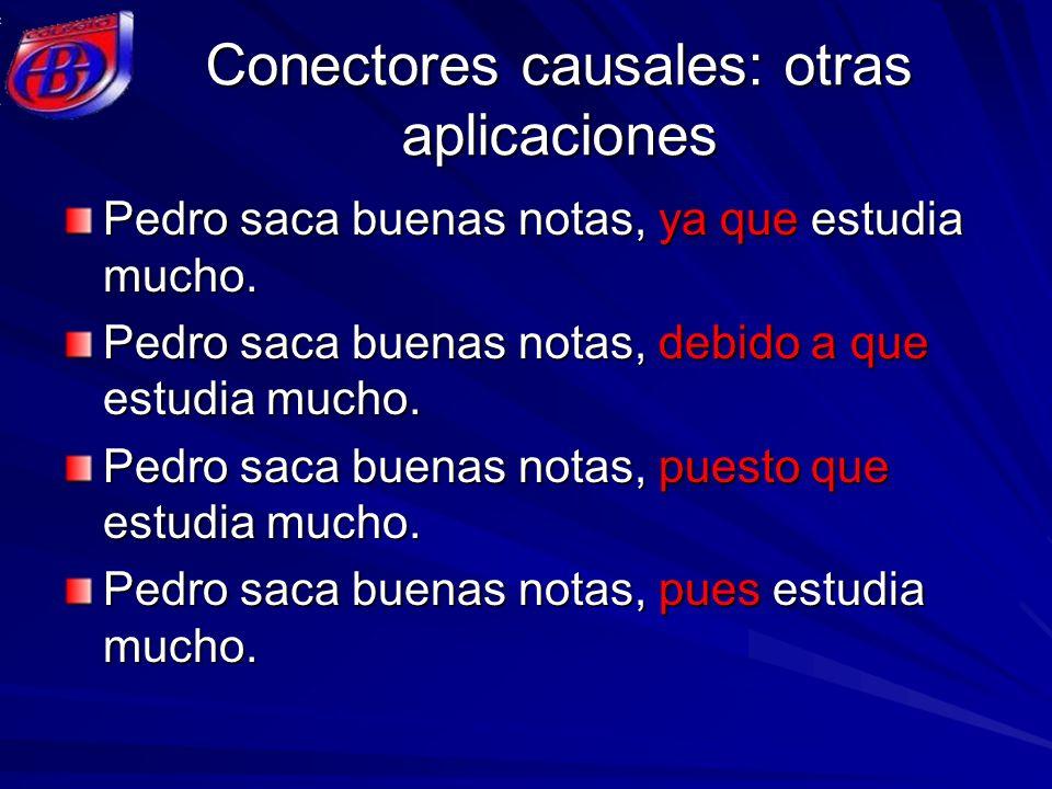 Conectores causales: otras aplicaciones
