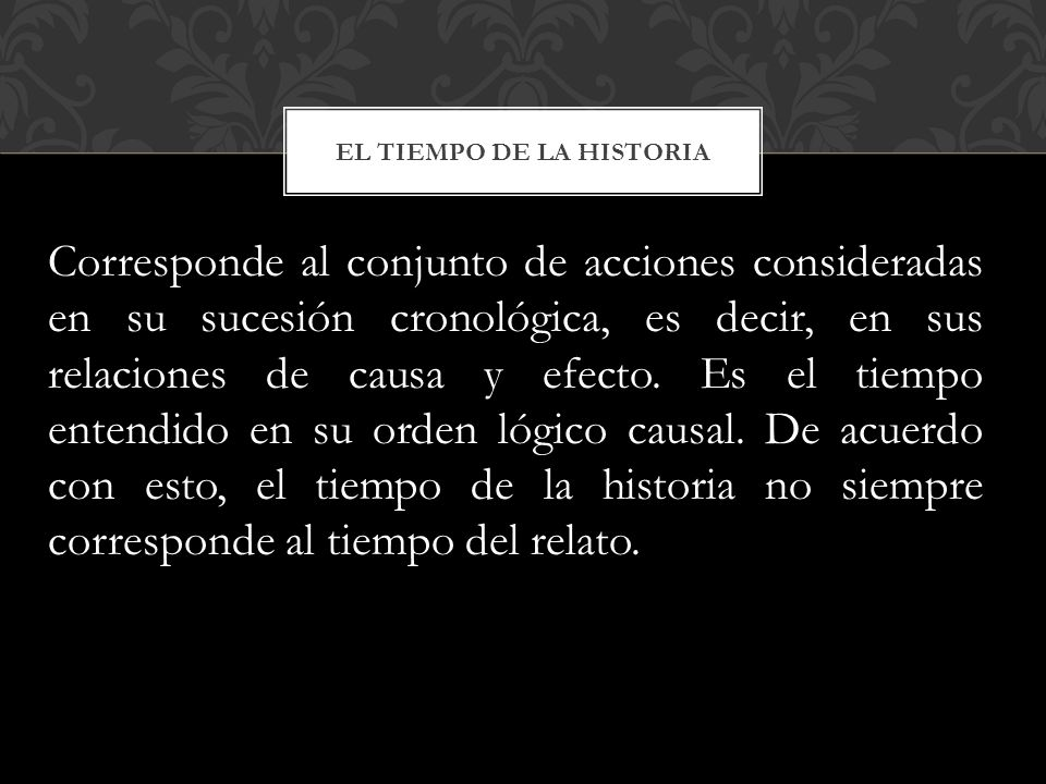 EL TIEMPO DE LA HISTORIA