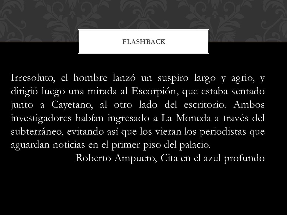 Roberto Ampuero, Cita en el azul profundo