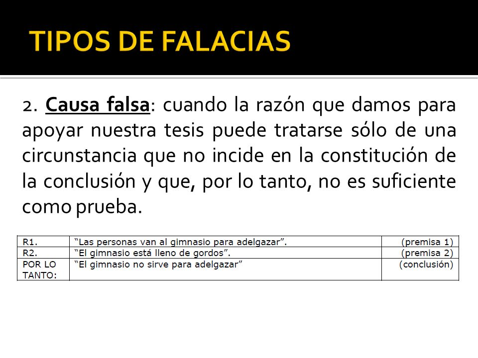 TIPOS DE FALACIAS