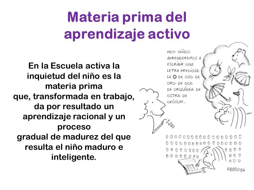 Materia prima del aprendizaje activo