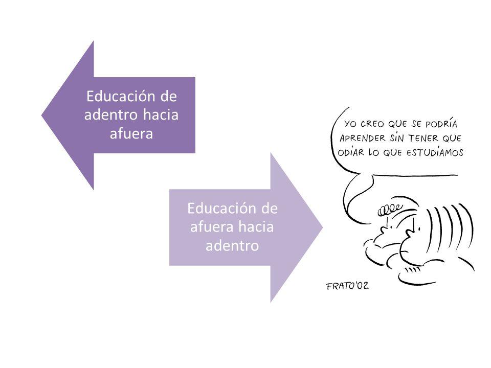 Educación de adentro hacia afuera