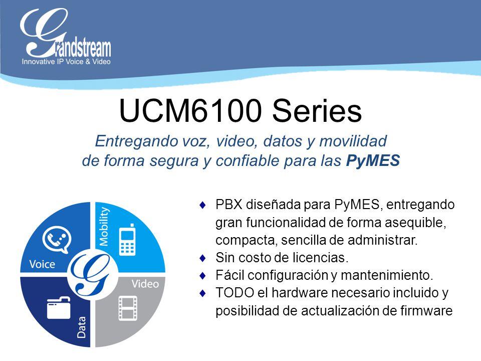 UCM6100 Series Entregando voz, video, datos y movilidad