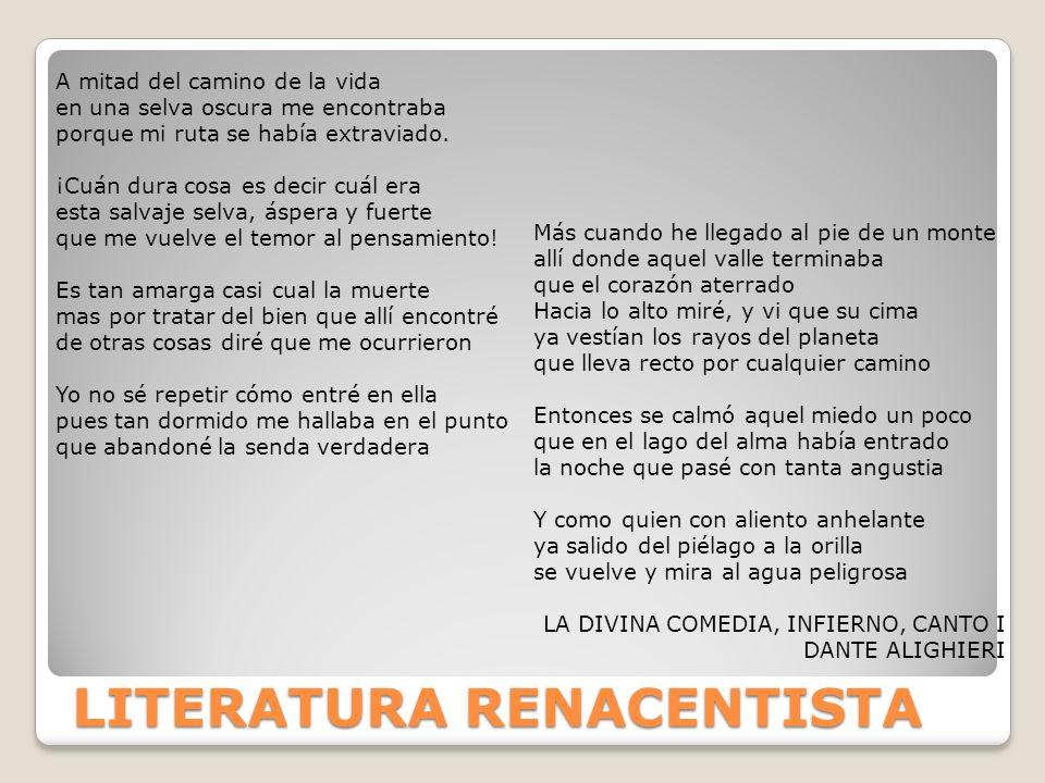 LITERATURA RENACENTISTA
