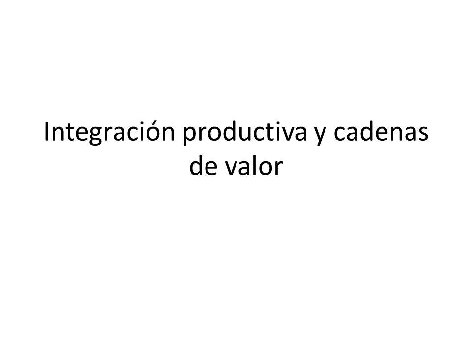 Integración productiva y cadenas de valor