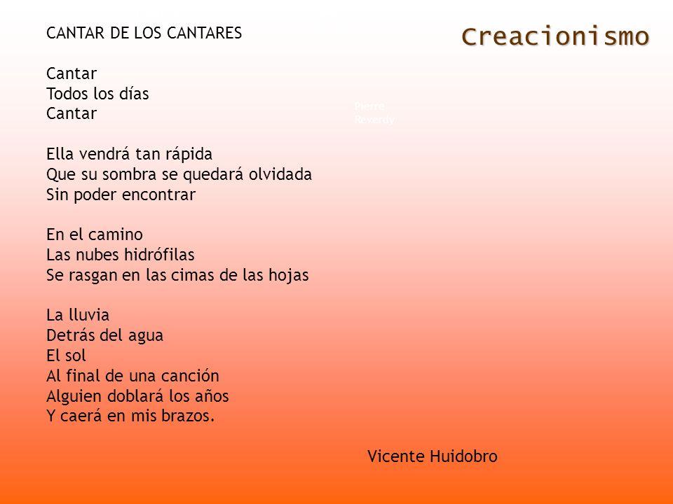 Creacionismo CANTAR DE LOS CANTARES Cantar Todos los días
