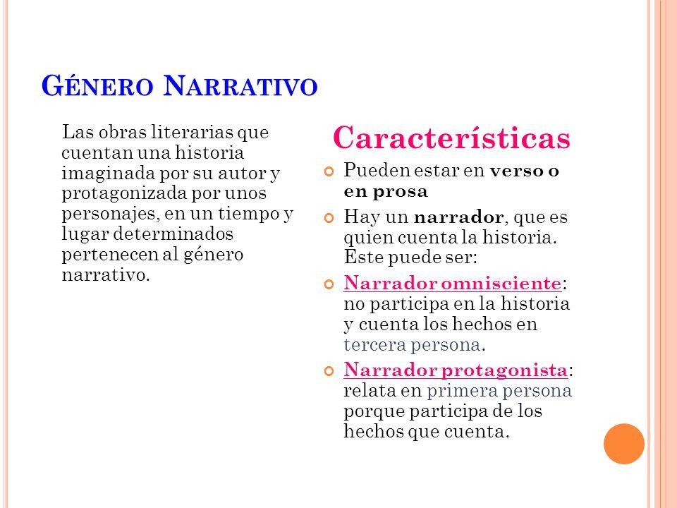 Características Género Narrativo