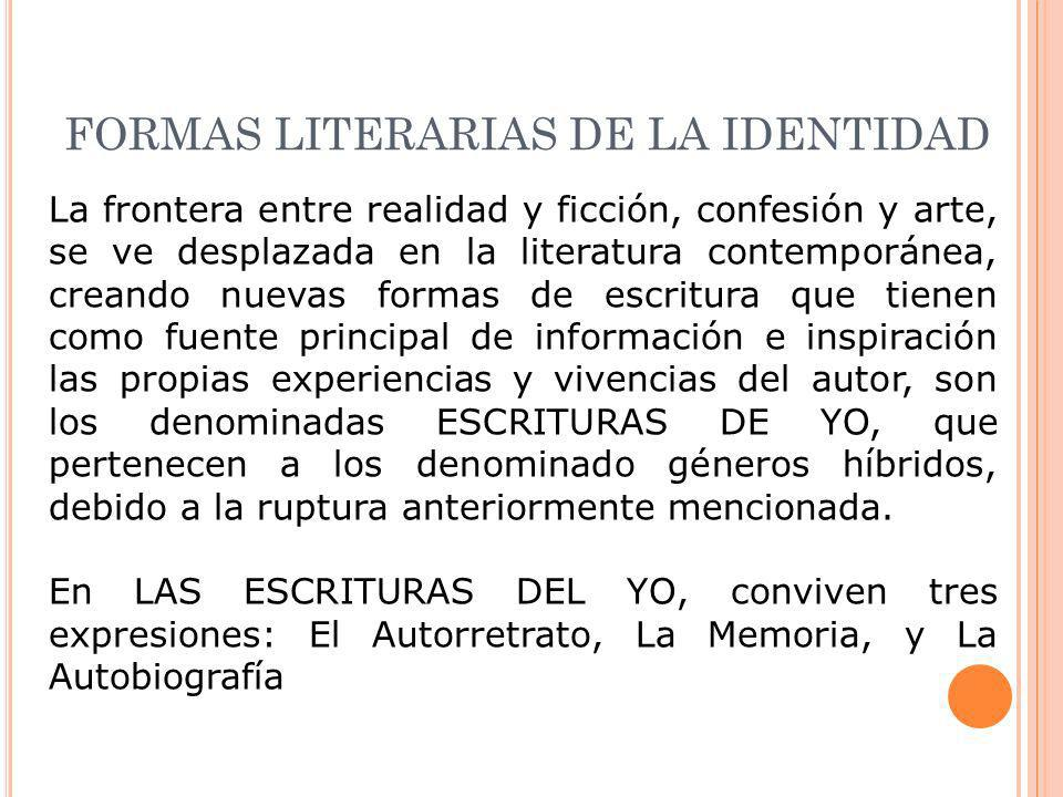 FORMAS LITERARIAS DE LA IDENTIDAD
