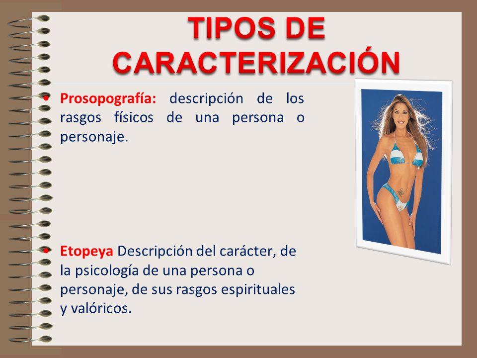 TIPOS DE CARACTERIZACIÓN