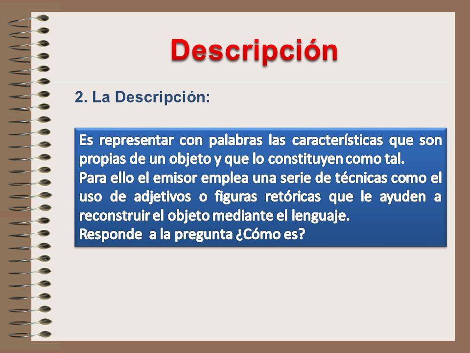 Descripción 2. La Descripción: