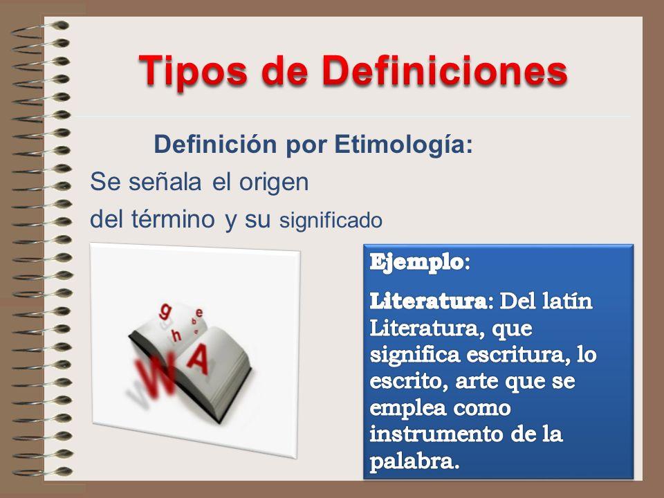 Definición por Etimología: