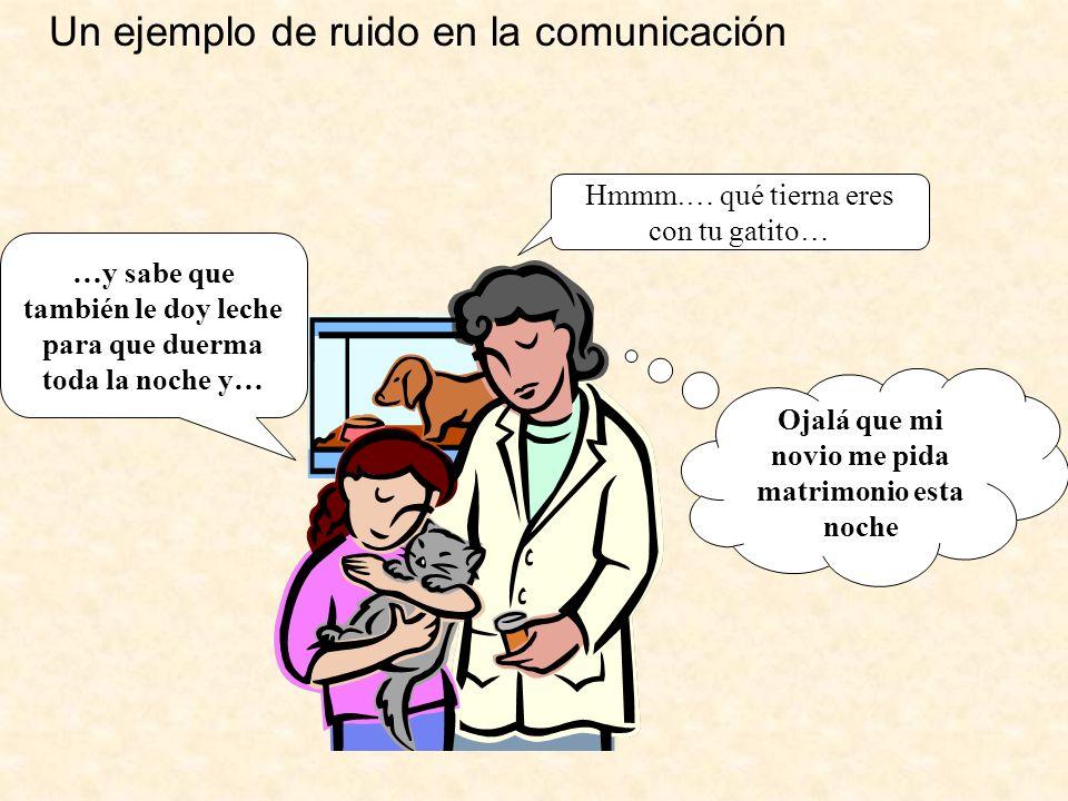 Un ejemplo de ruido en la comunicación