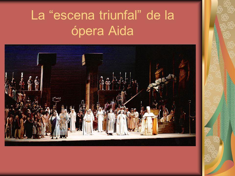 La escena triunfal de la ópera Aida