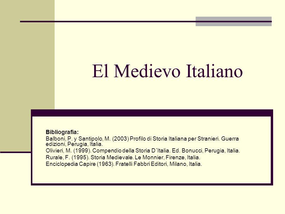 El Medievo Italiano Bibliografia: