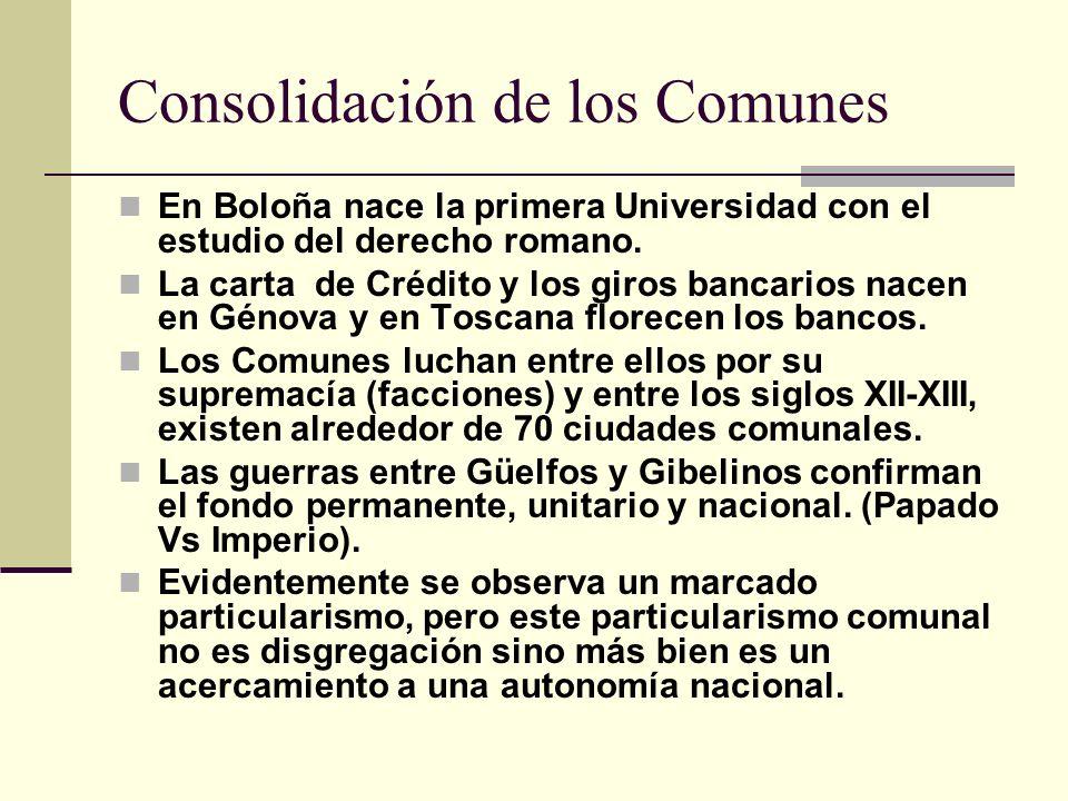 Consolidación de los Comunes