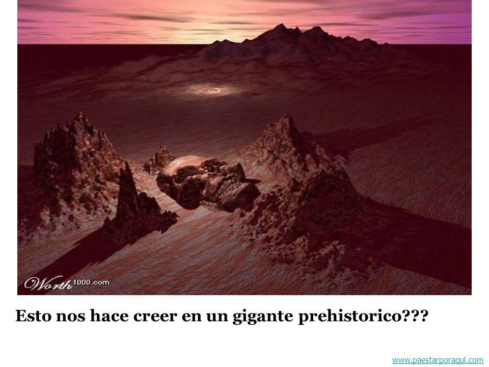 Esto nos hace creer en un gigante prehistorico