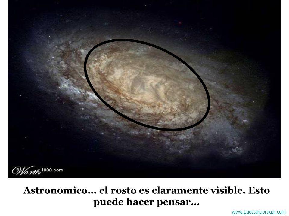 Astronomico… el rosto es claramente visible. Esto puede hacer pensar…