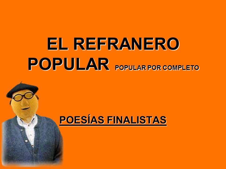 EL REFRANERO POPULAR POPULAR POR COMPLETO