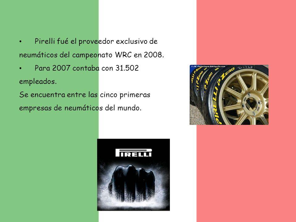 Pirelli fué el proveedor exclusivo de neumáticos del campeonato WRC en 2008.
