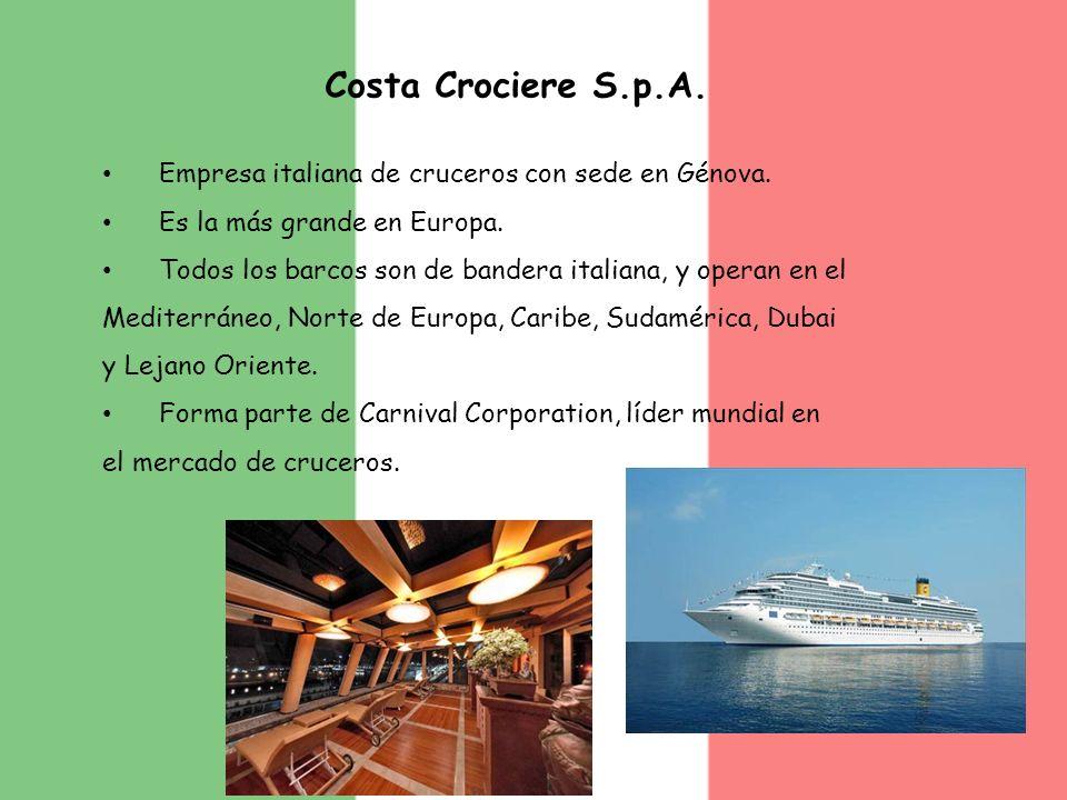 Costa Crociere S.p.A. Empresa italiana de cruceros con sede en Génova.
