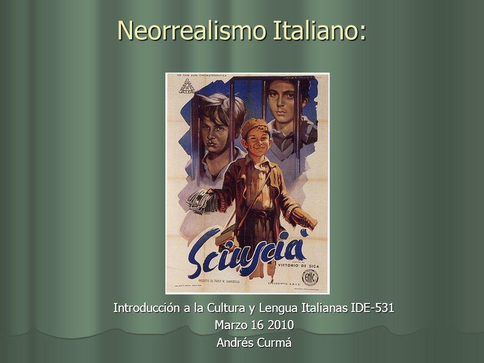 Neorrealismo Italiano:
