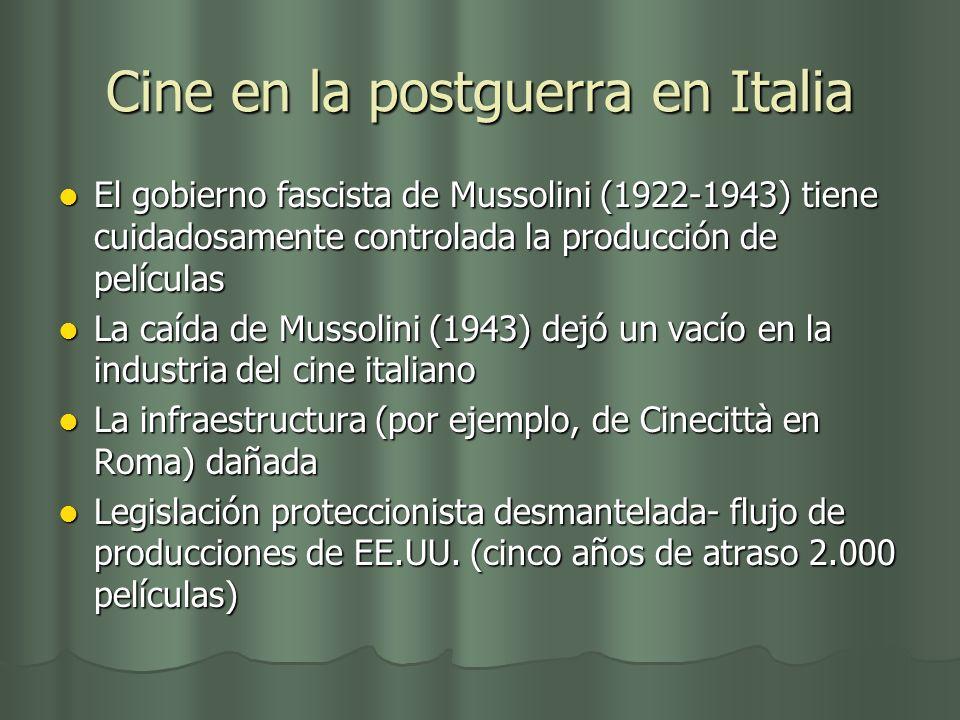 Cine en la postguerra en Italia