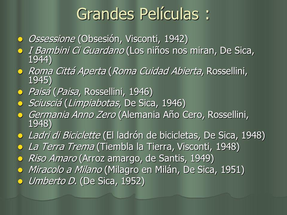 Grandes Películas : Ossessione (Obsesión, Visconti, 1942)