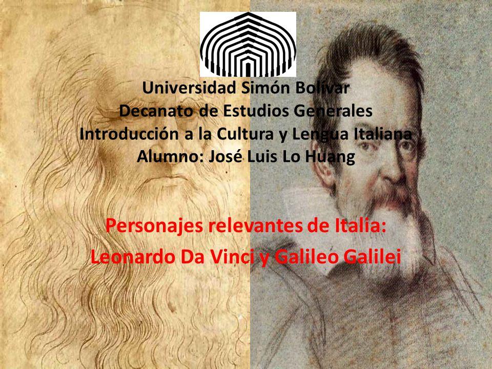 Personajes relevantes de Italia: Leonardo Da Vinci y Galileo Galilei